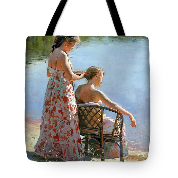 A View On The Pond Tote Bag