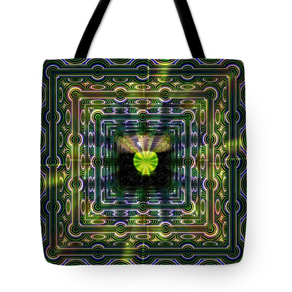 Tote Bag featuring the digital art A View To Infinity by Mario Carini