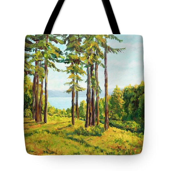 A View To The Lake Tote Bag