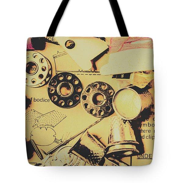 A Vintage Embellishment Tote Bag