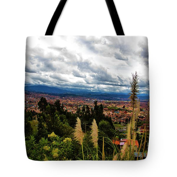 A Vista Of Cuenca From The Autopista Tote Bag