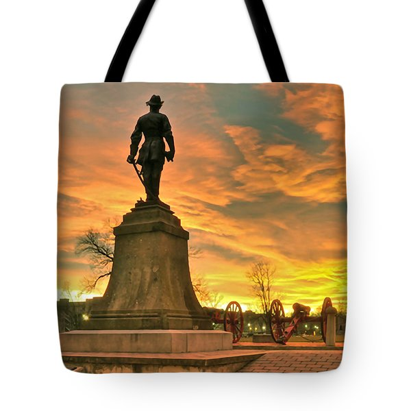 A Vmi Sunset Tote Bag