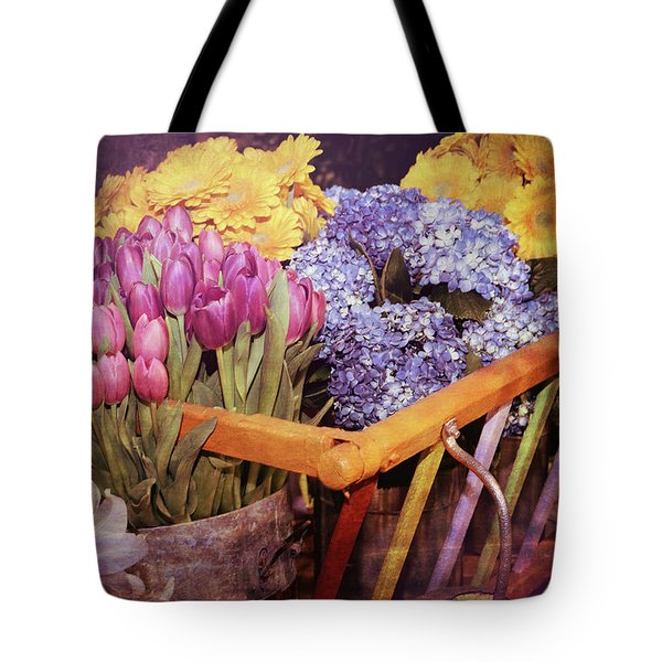 A Wagon Full Of Spring Tote Bag