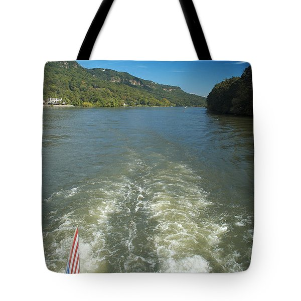 A Wake, River And Sky Col Tote Bag
