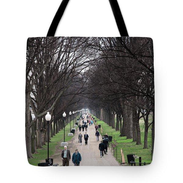 A Walk Along The National Mall In Washington Dc Tote Bag