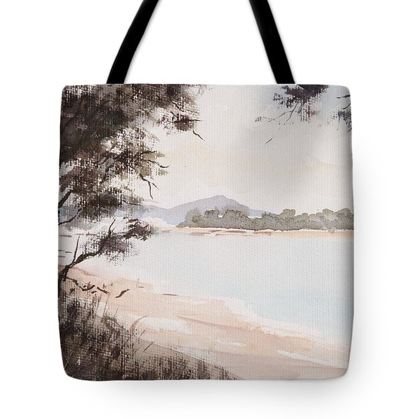 A Walk Along The Riverside Tote Bag
