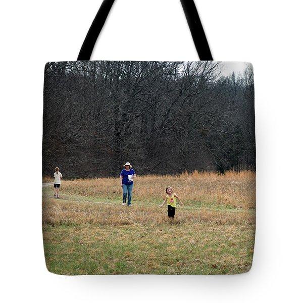 A Walk In A Field Tote Bag