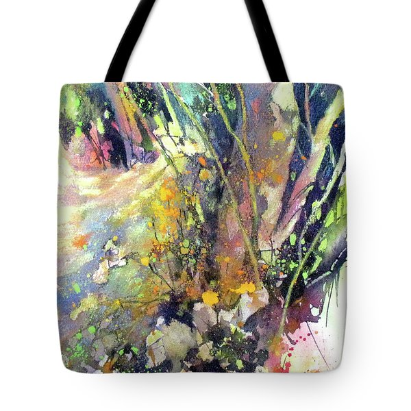 A Walk In The Forest Tote Bag by Rae Andrews
