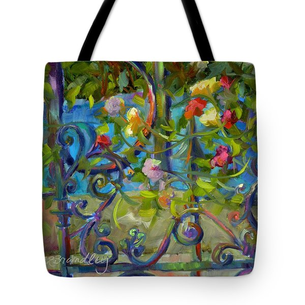 A Walk In The Garden Tote Bag by Chris Brandley
