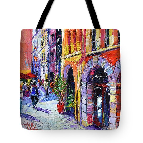 A Walk In The Lyon Old Town Tote Bag