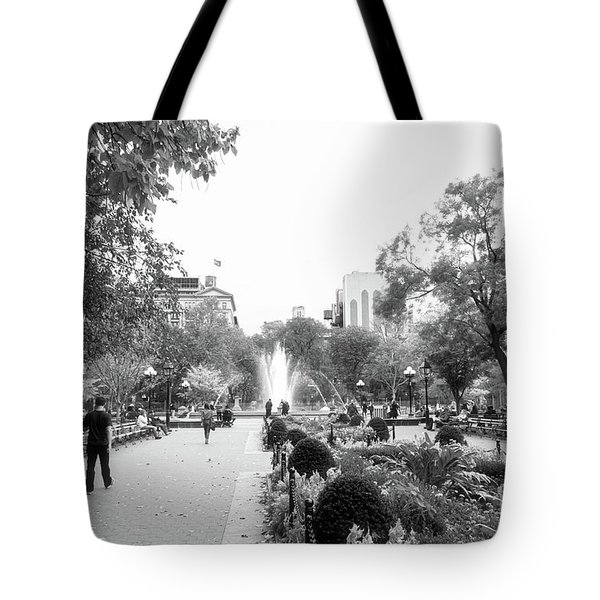 Tote Bag featuring the photograph A Walk In The Park by Ana V Ramirez