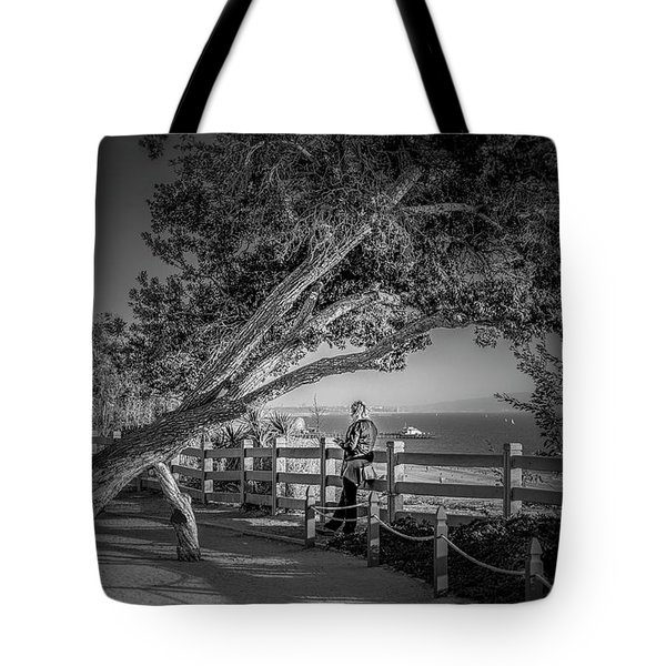 A Walk In The Park B And W Tote Bag