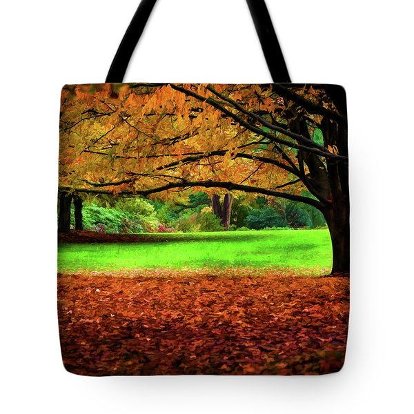 A Walk In The Park Tote Bag by Jordan Blackstone