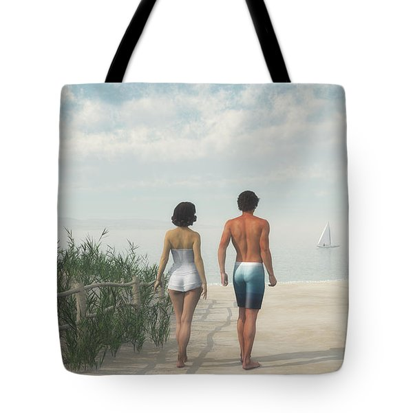 A Walk In The Sand Dunes Tote Bag