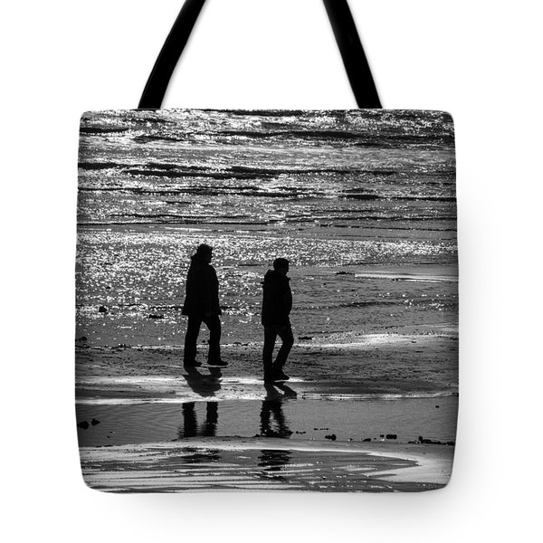 A Walk In The Sea Tote Bag by David Warrington