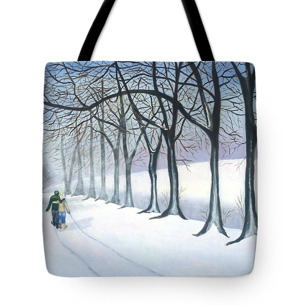 A Walk In The Snow Tote Bag