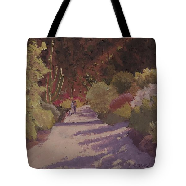 A Walk  On A  Sonoran Desert Road Tote Bag