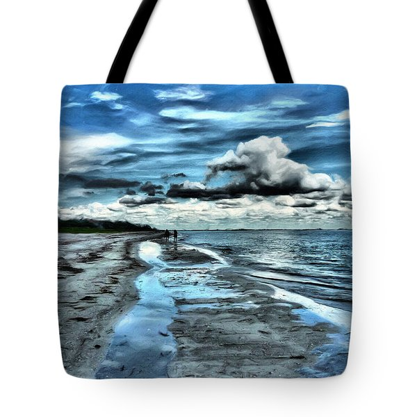 A Walk On The Beach Tote Bag by Jeff Breiman