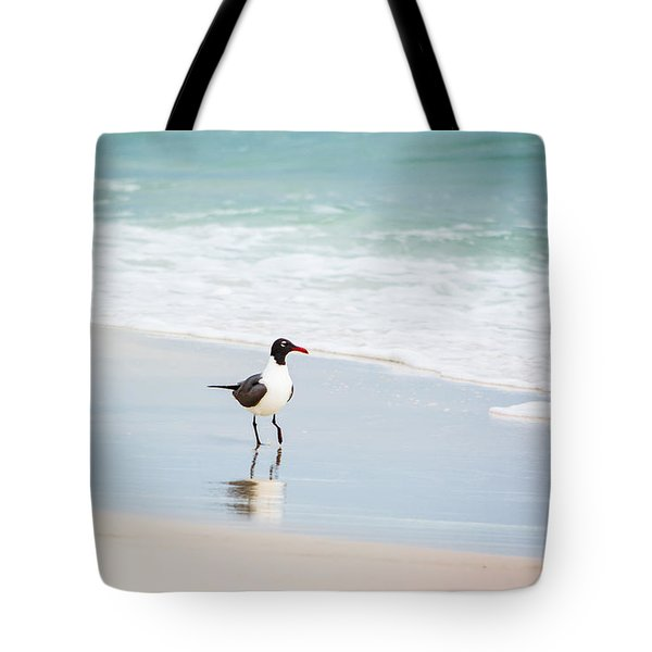 A Walk On The Beach Tote Bag by Shelby  Young