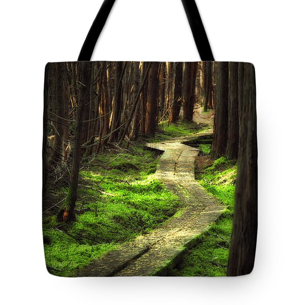 Tote Bag featuring the photograph A Walk Through The Bog by Robert Clifford