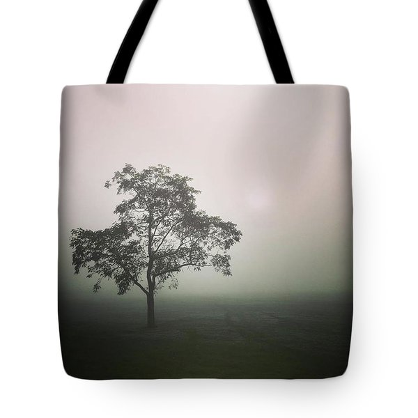 A Walk Through The Clouds #fog #nuneaton Tote Bag by John Edwards