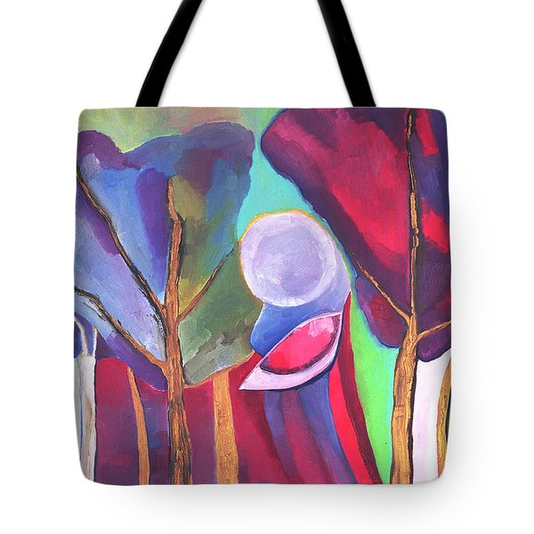 Tote Bag featuring the painting A Walk Through The Dream by Linda Cull