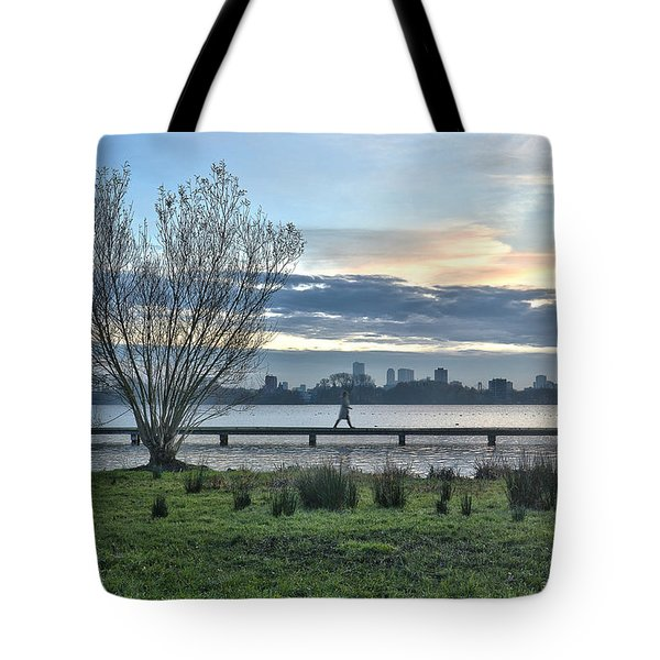 A Walk Through The Lake Tote Bag