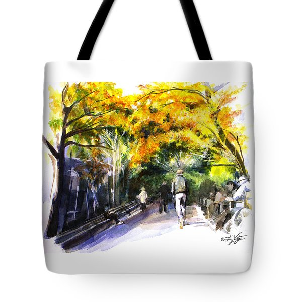 A Walk Through The Park Tote Bag by Liz Viztes