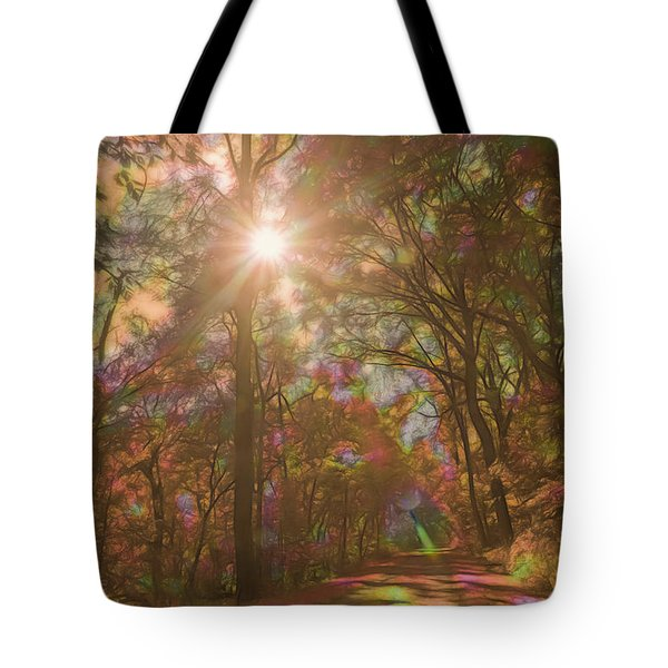 A Walk Through The Rainbow Forest Tote Bag