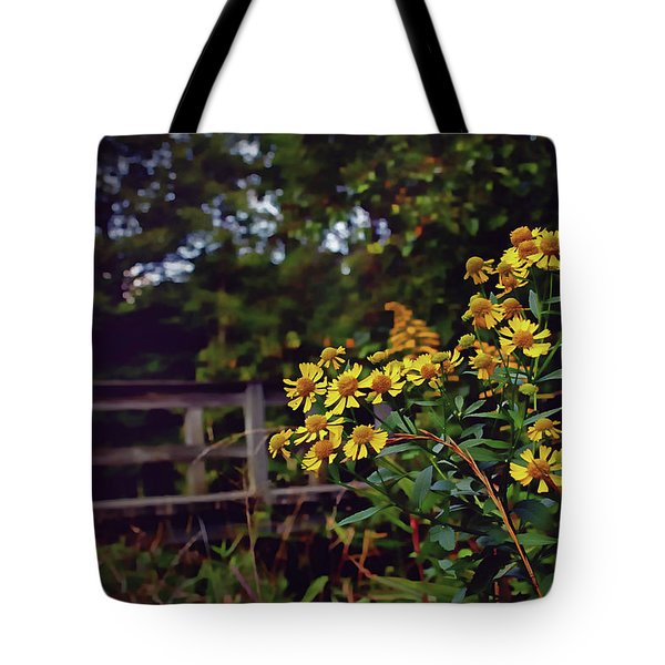 Tote Bag featuring the photograph A Walk With Wildflowers by Jessica Brawley