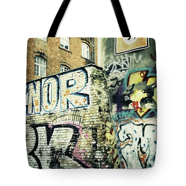 A Wall Of Berlin With Graffiti Tote Bag