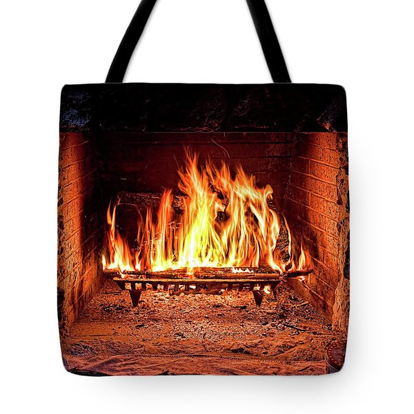 A Warm Hearth Tote Bag