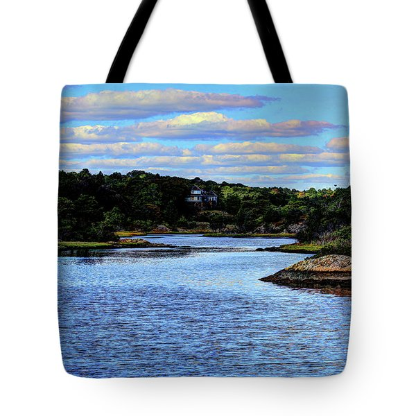 Tote Bag featuring the photograph A Water View Newport Ri by Tom Prendergast