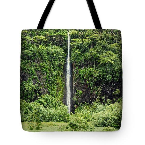 A Waterfall In Tahiti Tote Bag
