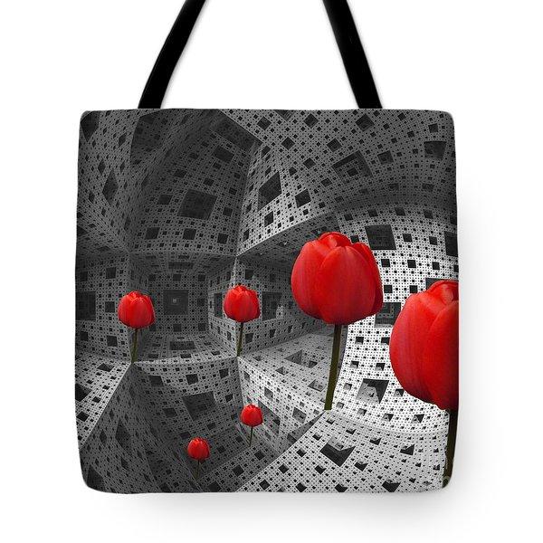 a way in Menger's sponge Tote Bag