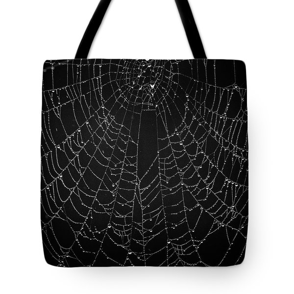 A Web Of Silver Pearls Tote Bag