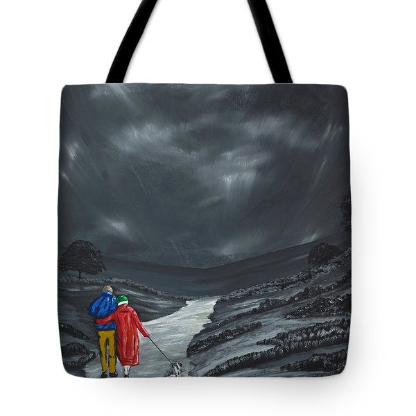 Tote Bag featuring the painting A Wee Bijou Strollette by Scott Wilmot