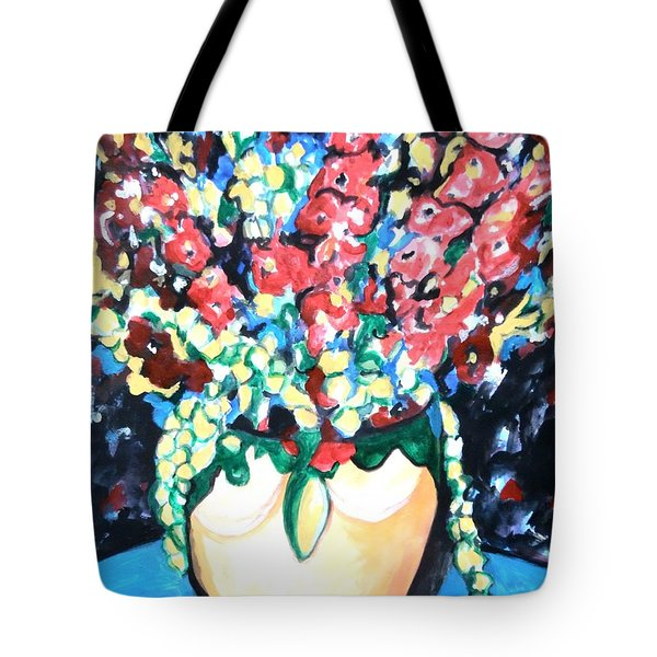 A Welcoming Bouquet Tote Bag by Esther Newman-Cohen