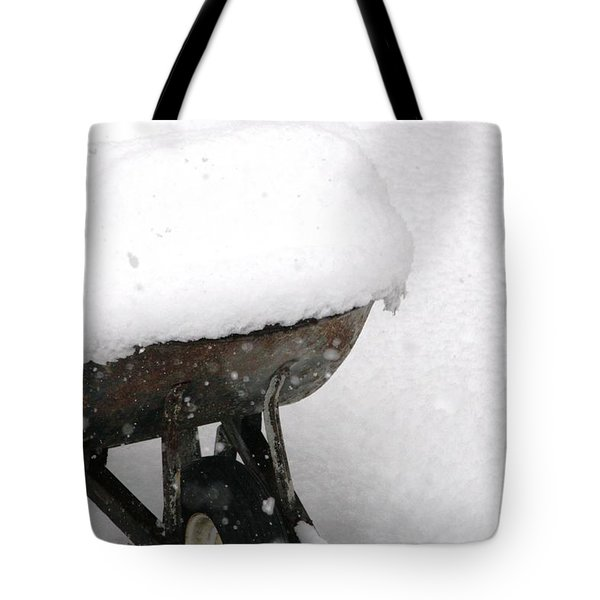 A Wheel Barrel Of Snow Tote Bag