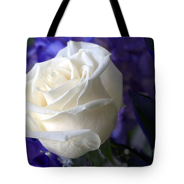 A White Rose Tote Bag by Sharon Talson