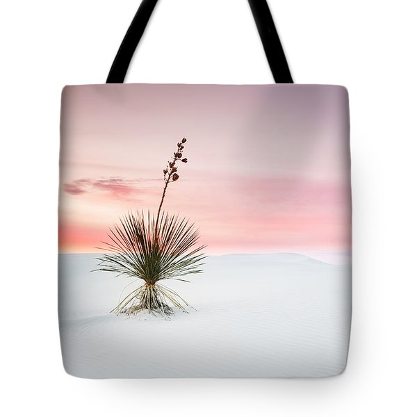 A White Sands Yucca Under Dreamy Sky - New Mexico Tote Bag