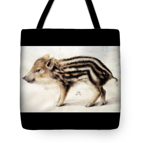 A Wild Boar Piglet Tote Bag
