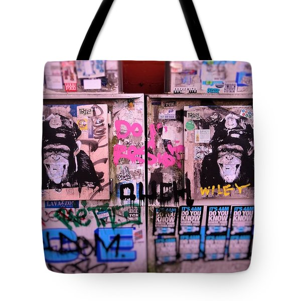A Wiley The Monkey Mural In New York  Tote Bag