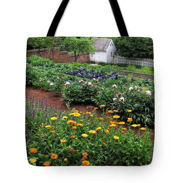 A Williamsburg Garden Tote Bag