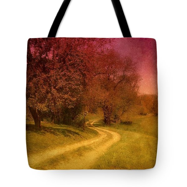 A Winding Road - Bayonet Farm Tote Bag by Angie Tirado