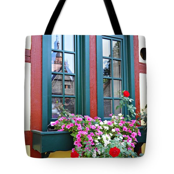 A Window In Eltville  2 Tote Bag by Sarah Loft