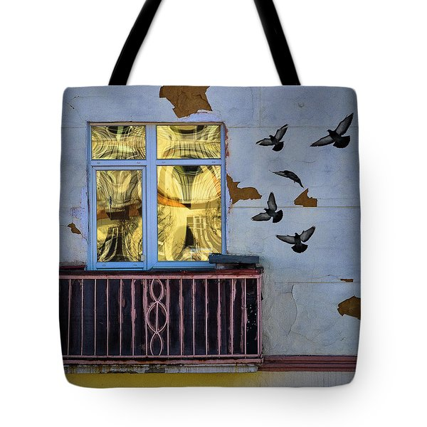 Tote Bag featuring the photograph A Window by Vladimir Kholostykh