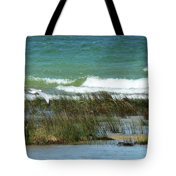 Tote Bag featuring the photograph Riding The Wind by Sally Sperry