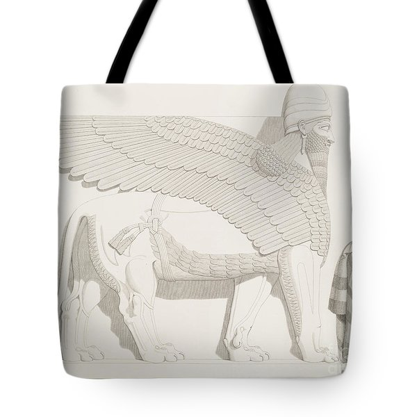 A Winged Human-headed Lion From Nimroud Tote Bag