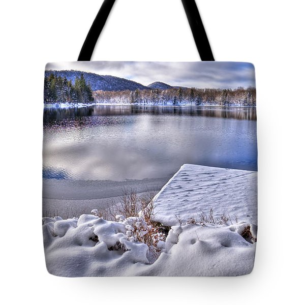Tote Bag featuring the photograph A Winter Day On West Lake by David Patterson